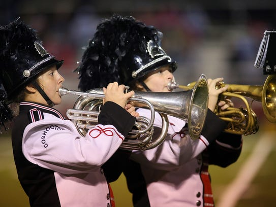 The Coshocton High School Marching Band heads to state