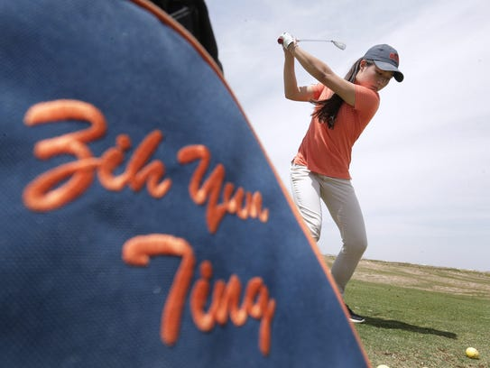 UTEP golfer Zih Yun Ting practices Thursday at Butterfield