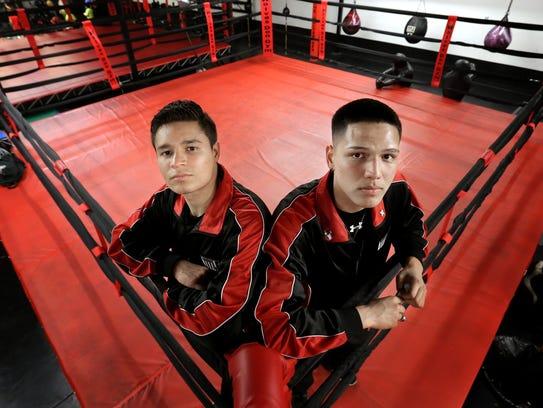 State Golden Gloves champions Victor Aranda, left,
