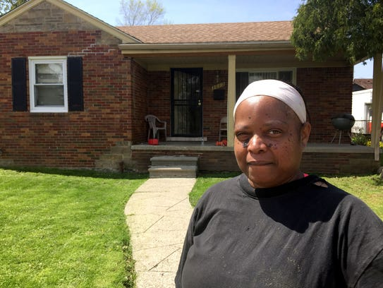 Dacia Robinson of Detroit lost power for eight days