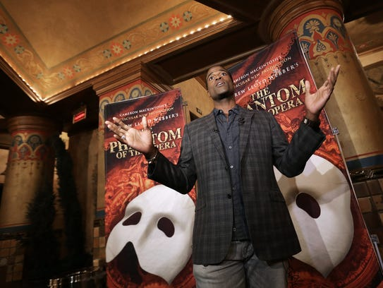 Derrick Davis, who plays the Phantom in Cameron MacKintosh's