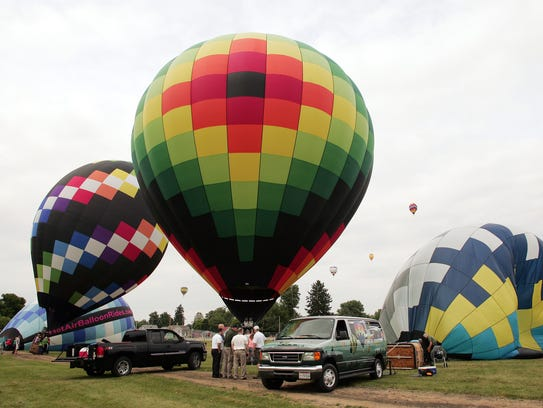 The hot air balloon festival starts Thursday at the