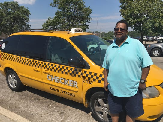 Cab driver Byron Shelby, 56, of Detroit tried driving