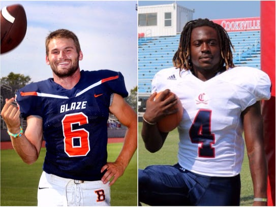 Blackman's Connor Mitchell (left) and Cookeville's