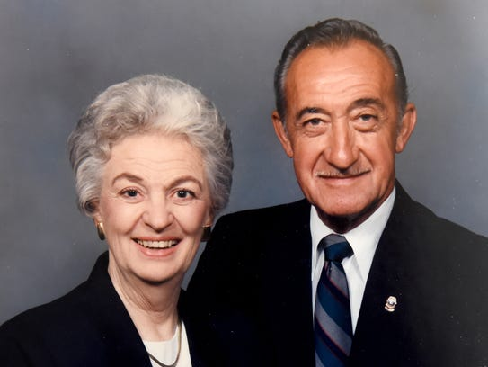 Submitted photograph of Doris Hoffacker and her husband
