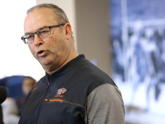 UTEP special teams coordinator Joe Robinson.