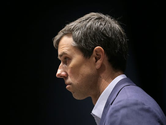 U.S. Rep. Beto O'Rourke, D-El Paso, listens to questions