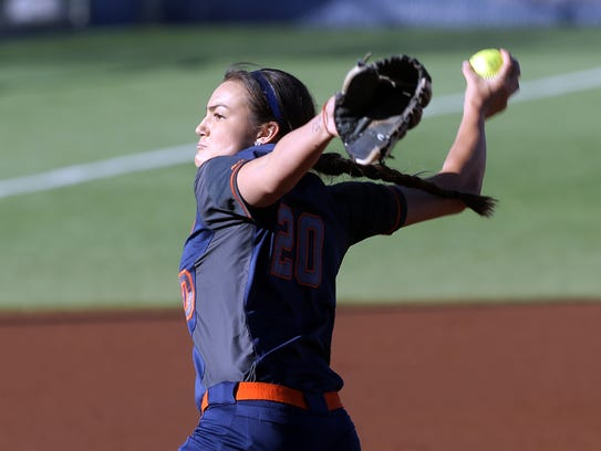 UTEP pitcher Kira Mckechnie got things started for