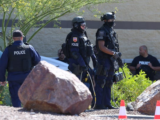 The El Paso Police Department SWAT team tries to get