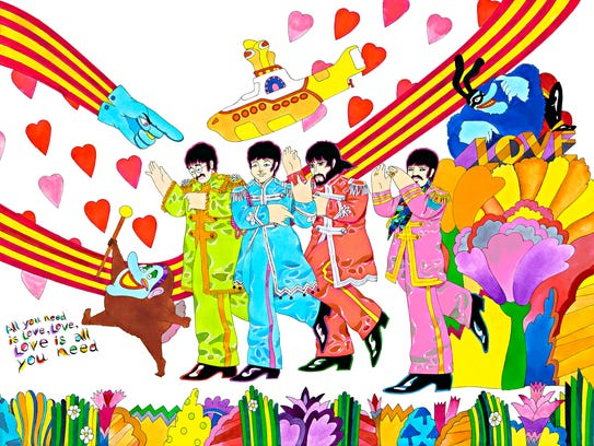 """""""All You Need is Love,"""" by Ron Campbell."""