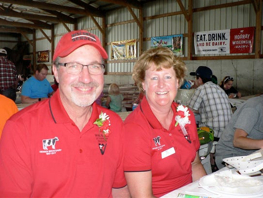 Will and Kim Hensen, partners in Hensen Bros. Dairy