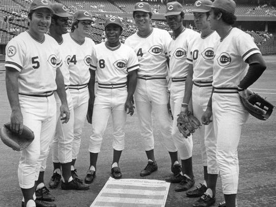 The Great Eight, Johnny Bench, Ken Griffey Sr., Pete Rose, Joe Morgan, Tony Perez, Cesar Geronimo, George Foster and Dave Concepcion dominated the fans' picks for the All-Time Reds Team.