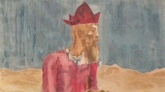 Picasso's Saltimbanco Seduto Con Ragazzo.