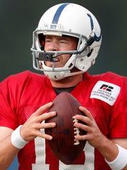Indianapolis Colts quarterback Scott Tolzien (16) with