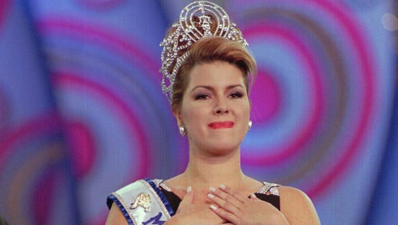 Miss Universe Alicia Machado in 1996.