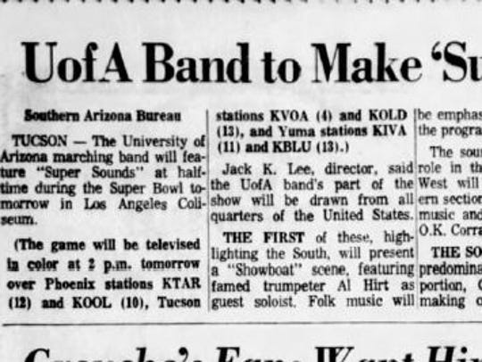 A clipping from the Saturday, January 14, 1967, edition