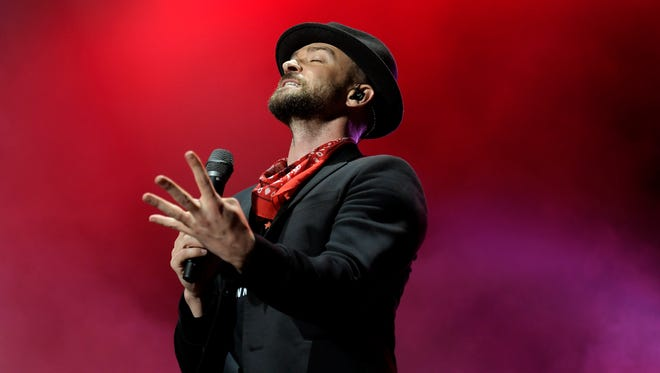Justin Timberlake performs at Pilgrimage Music & Cultural Festival at The Park in Harlinsdale in Franklin, Tenn. on Saturday, Sept. 23, 2017.