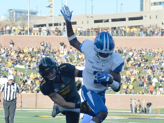 Middle Tennessee's Richie James, scoring last season