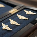 Naval Air Station Whiting Field - aviators receive Wings of Gold