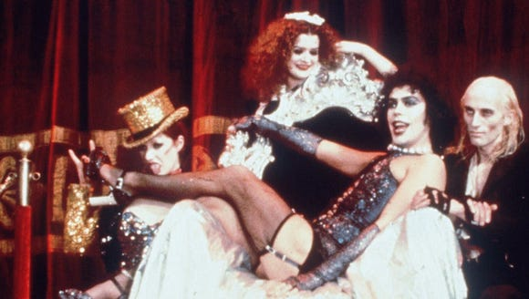 Nell Campbell (from left), Patricia Quinn, Tim Curry