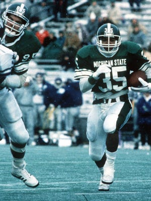 Tico Duckett's 4,212 career rushing yards from 1989-92 are third all-time at Michigan State.