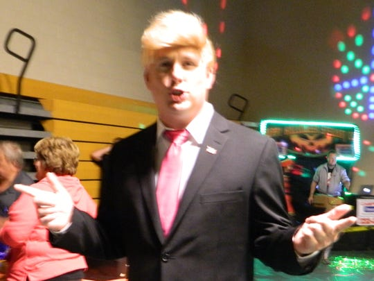Donald Trump ( Dallas Hoyt) campaigned to make Halloween great again at Dover's annual Halloween Festival.