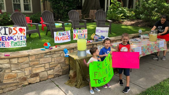 An Atlanta mother Shannon Cofrin Gaggero said her 6-year-old had the idea to host a lemonade stand to raise money for immigrant children separated from their parents at the border. The stand raised $13,000.
