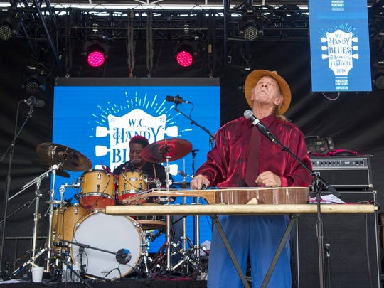 Watermelon Slim and the Truckers perform during the 2018 W.C. Handy Blues and Barbecue Festival at Audubon Mill Park on Saturday, June 16.