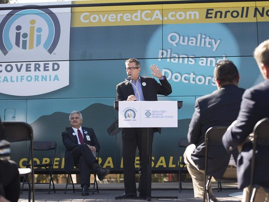 In this file photo, Executive Director of Covered California, Peter V. Lee, urges people in Salinas to enroll for Covered California.
