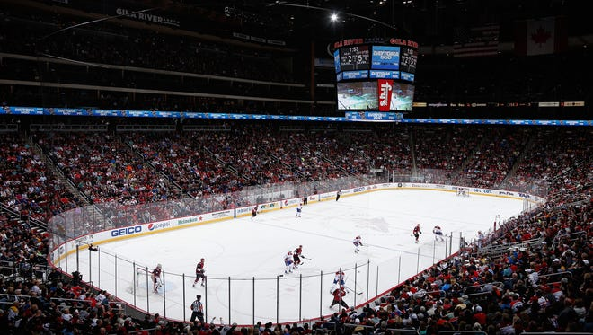 Gila River Arena in Glendale, home to the Arizona Coyotes.