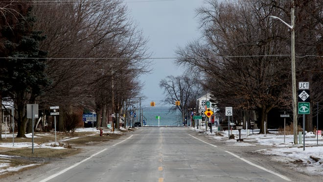 A view looking east on M-46 in Port Sanilac. The Michigan Department of Transportation has proposed a project for spring of 2018 to resurface and reconstruction portions of M-25 and M-46 in Port Sanilac. The M-25 rehabilitation would include curb and gutter repairs, water main upgrades and resurfacing, and the M-46 work would include reconstruction of roadway, storm sewer replacement and curb and gutter replacement.