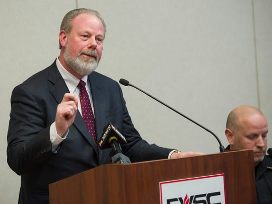 EVSC Superintendent David Smith speaks during a press conference to discuss the aftermath of a former Central High School student who was found dead from a self inflicted gunshot wound earlier this week, Friday, Jan. 6, 2017.