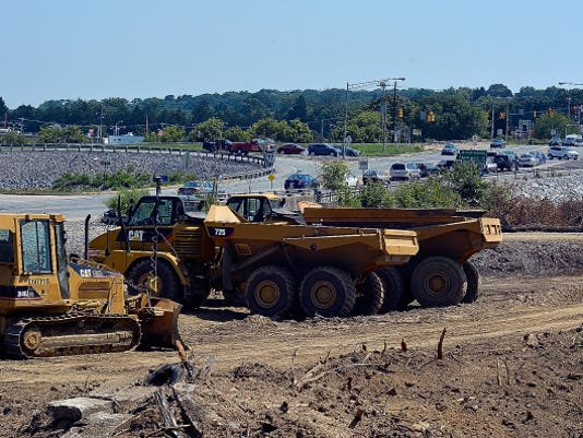 Construction started up again last week at the Mount Rose Avenue exit 18 of I-83.