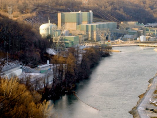 Peach Bottom Atomic Power Station, shown here in this 2003 file photo. On Friday night, a driver was taken into custody outside the plant, a spokeswoman said.