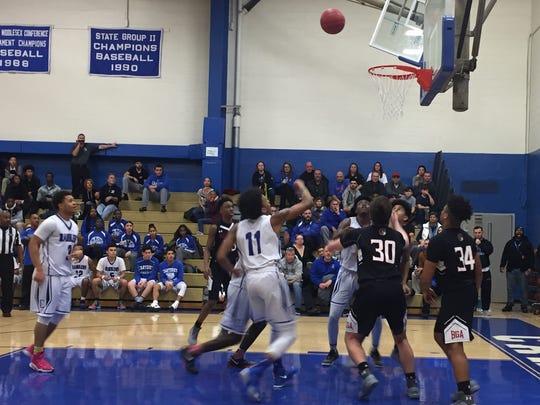 Carteret vs. Bishop Ahr boys basketball on Friday,