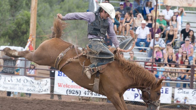 The Payson Rodeo features bull riding, steer roping and bronc busting.