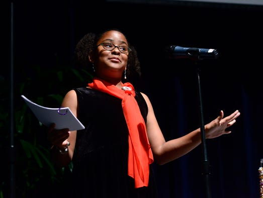 """Ceirra Moore, 11, pitches her business plan for """"Coterie"""
