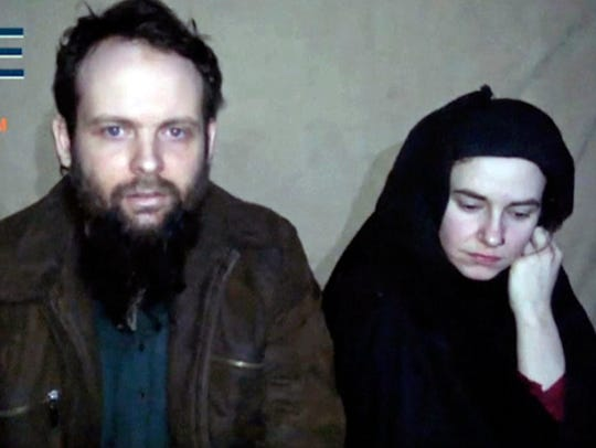 This undated image from militant video posted online