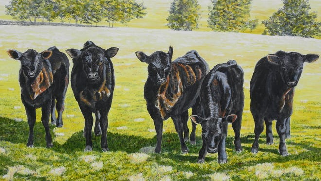 This painting by Michael McKee is among the art going on exhibit at the Emporium Center.