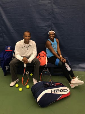 Kamau Murray (left) has been coaching U.S. Tennis player Sloane Stephens since 2015.