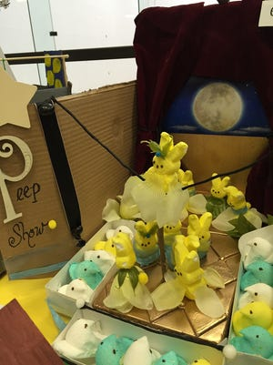 "And now presenting, a ""Peep Show"" diorama."
