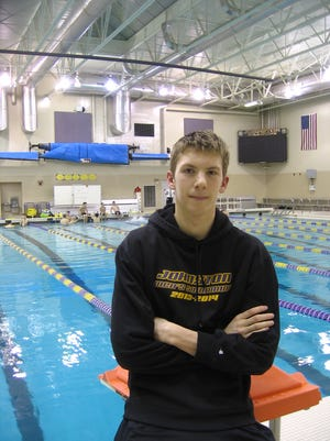 Stjepan Fiolic, who swims with Johnston but attends Urbandale, is among Iowa's top 10 swimmers in four events.