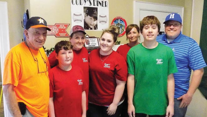 Cody's Diner offers breakfast and lunch Southern style at 113 Cumberland St. in Ashland City. Pictured are (from left) Clay Risner (owner), Cody Risner, April Risner (owner), Jennifer Moran, Mandy Fields, Clay Risner Jr. and David Risner.