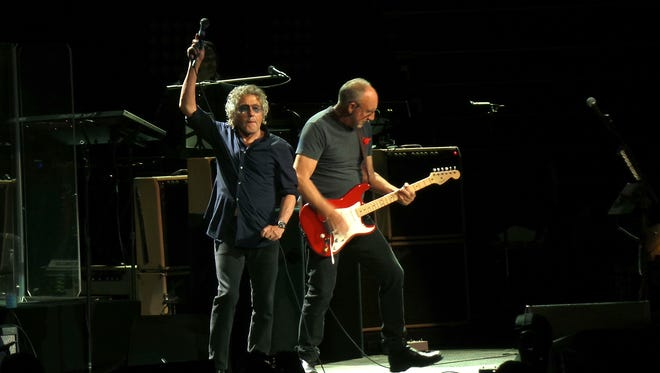 Roger Daltrey and Pete Townshend of The Who perform at Nashville's Bridgestone Arena on May 11.
