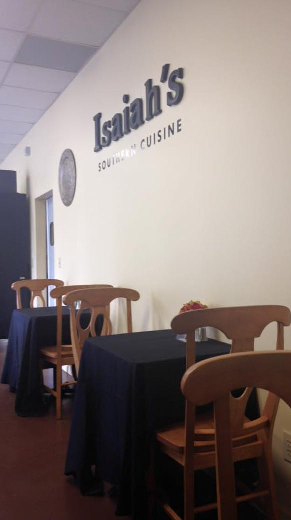 Isaiah's Southern Cuisine at Incredible Edibles opened