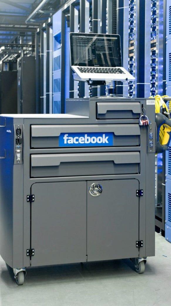 A mobile diagnostic center in the Facebook data center