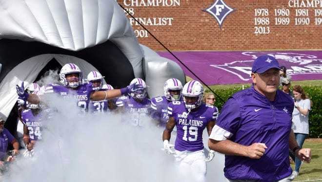 Furman hosts Mercer in Southern Conference football Saturday, October 21, 2017.