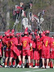 GMC boys lacrosse Edison at Monroe on Tuesday April