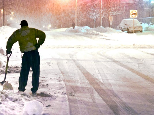 Winter is expected to start out mild this year, and the area should see fewer days with subzero temperatures this winter. This photo was taken during a 2010 snowstorm in York.