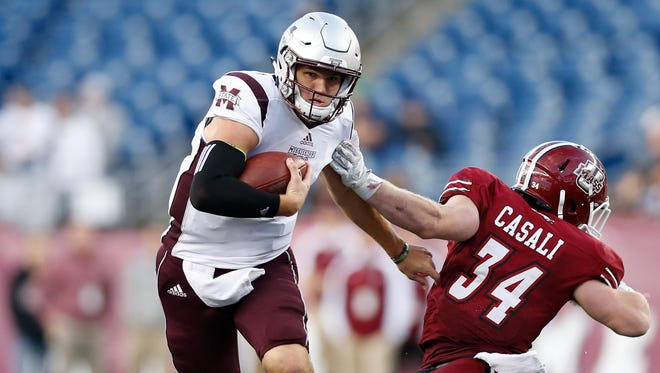 Mississippi State quarterback Nick Fitzgerald has run the ball well in wins and struggled in losses.